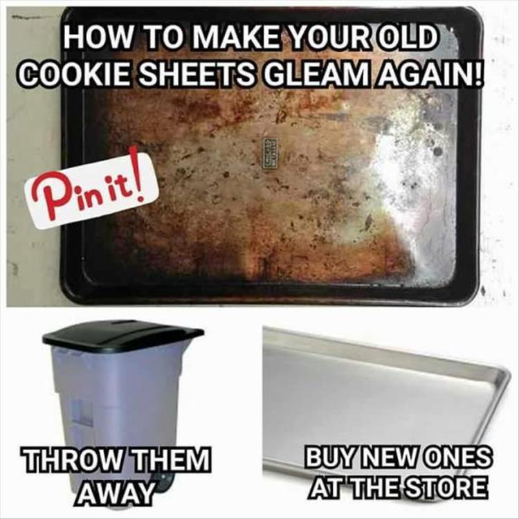 how to make old cookie sheets clean again