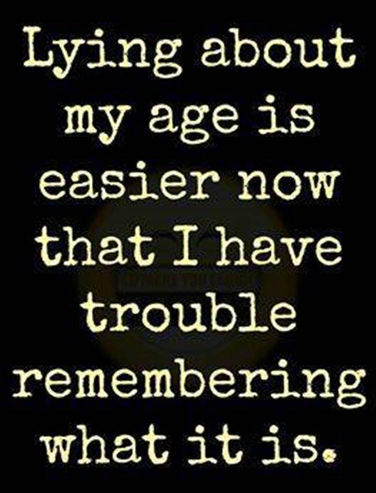 lying about my age