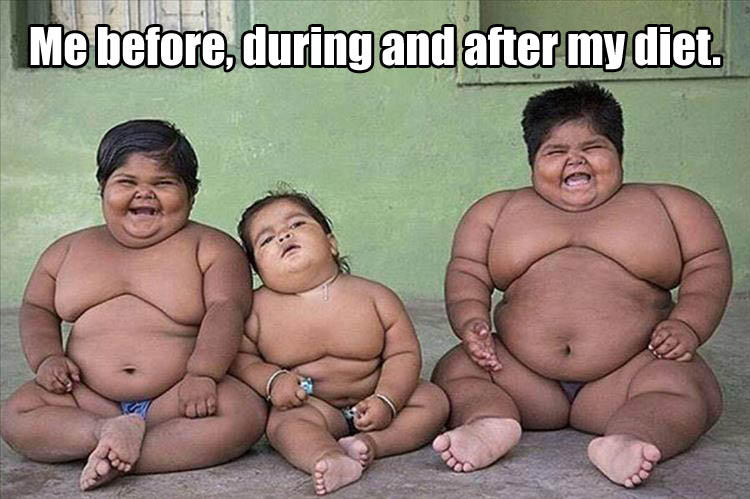 me before, during and after my diet