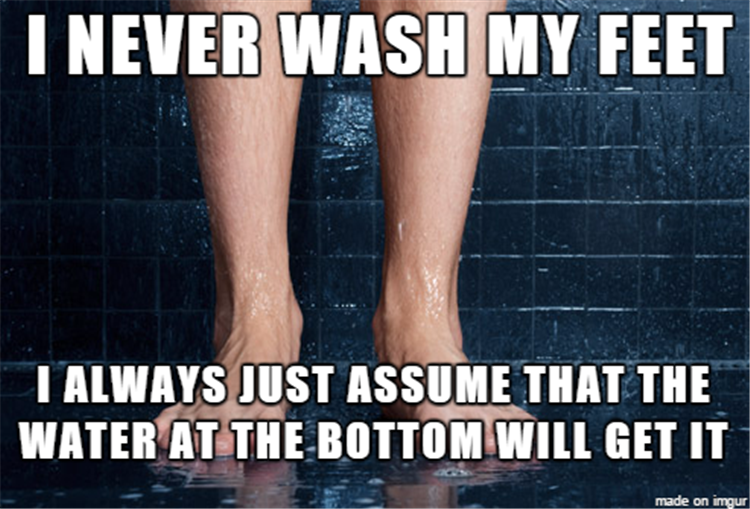 never wash my feet