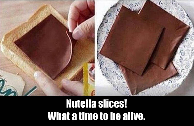 nutella slices