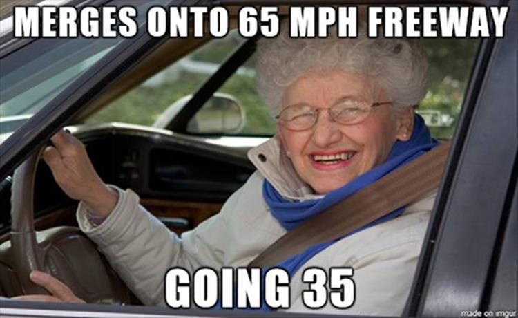 old people driving
