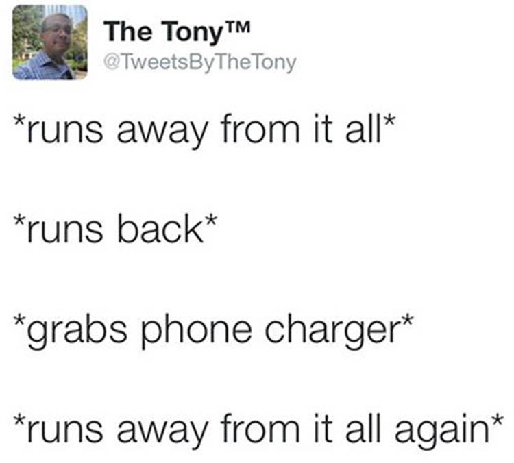 running away from it all