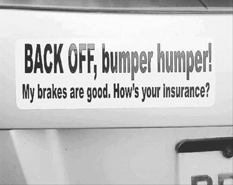 the funny bumper stickers