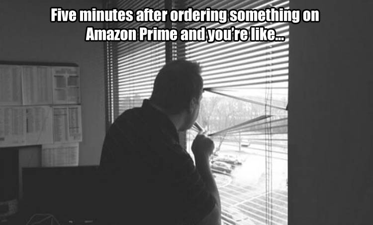 when you order something from amazon prime