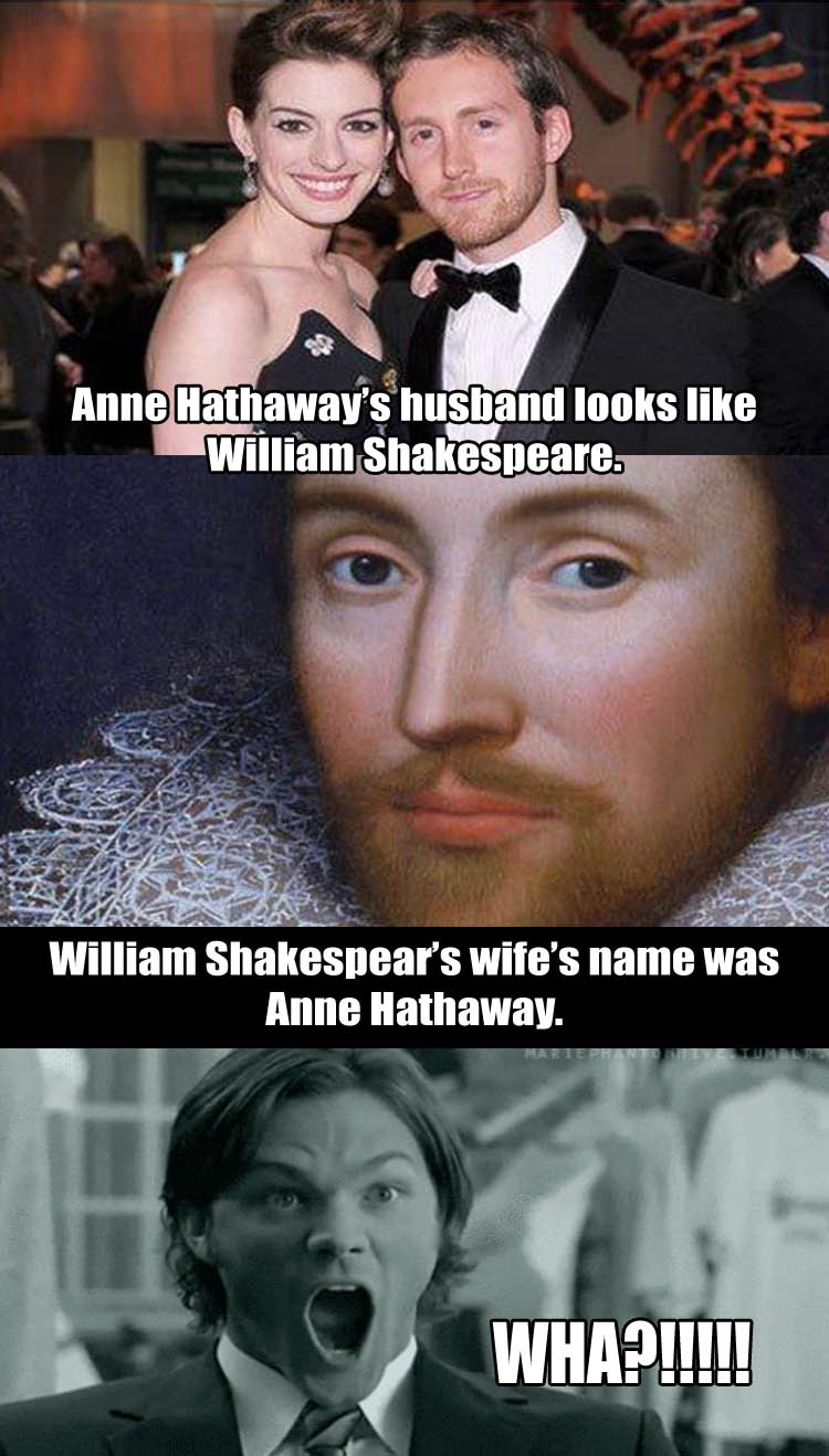Mind blown Anne Hathaway