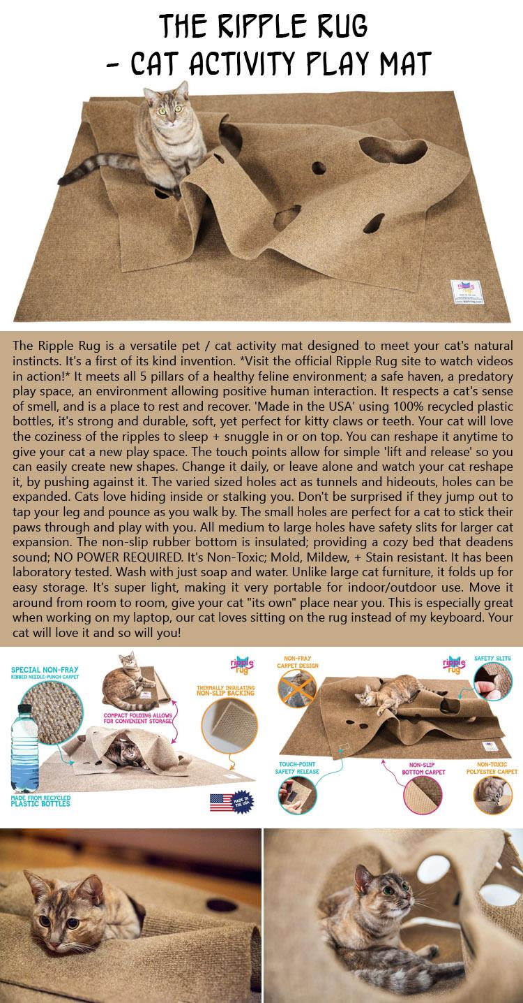 The Ripple Rug - Cat Activity Play Mat