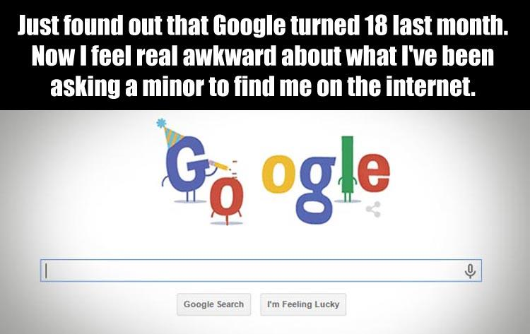 google-is-18-years-old