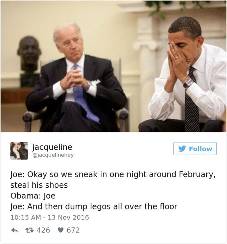 Hilarious Memes Of Joe Biden Plotting White House Pranks Are Internet ...