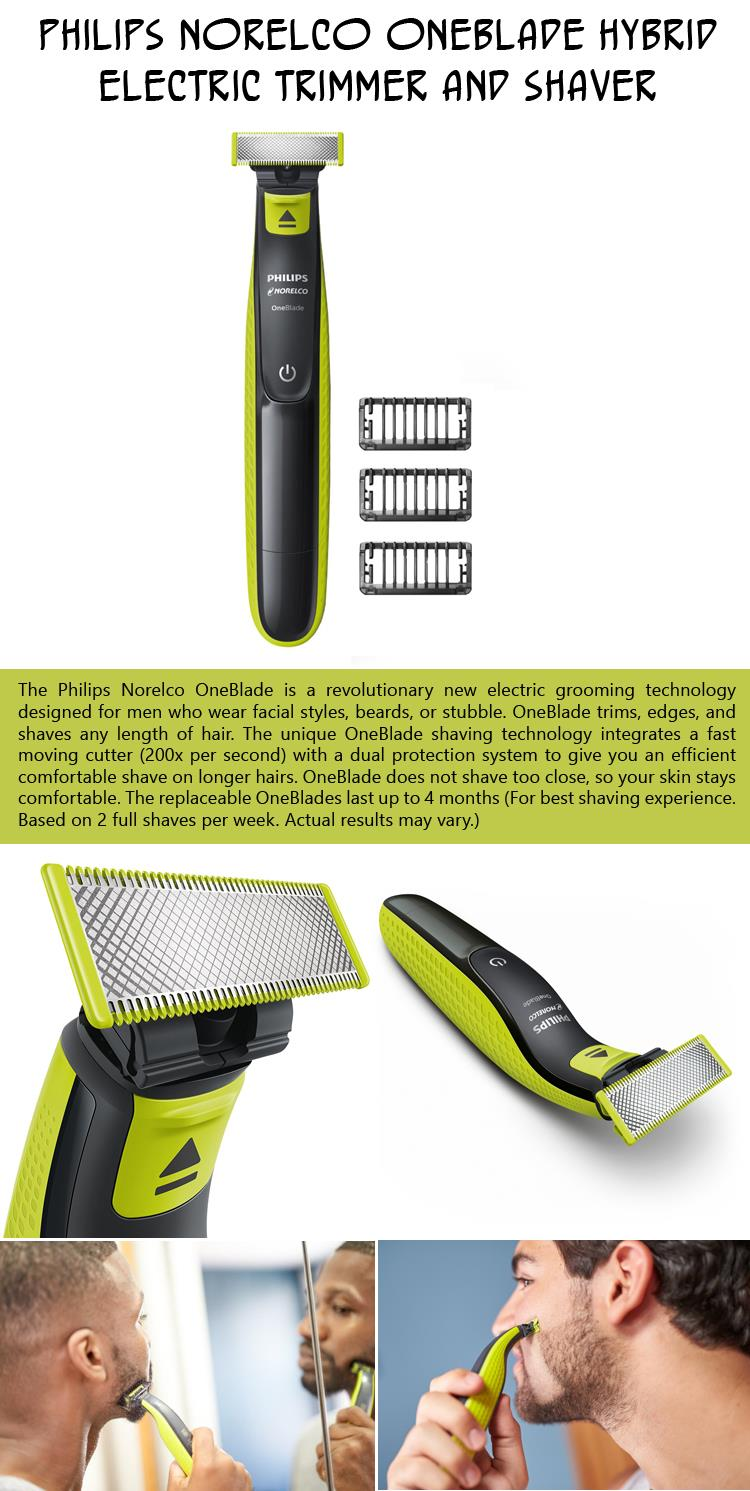 philips-norelco-oneblade-hybrid-electric-trimmer-and-shaver
