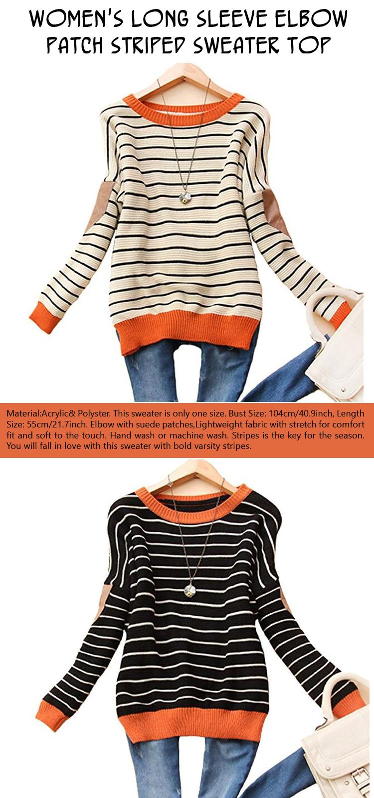 womens-long-sleeve-elbow-patch-striped-sweater-top