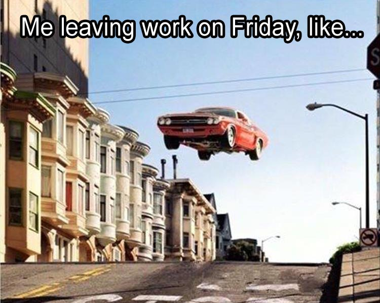 leaving-work-on-friday