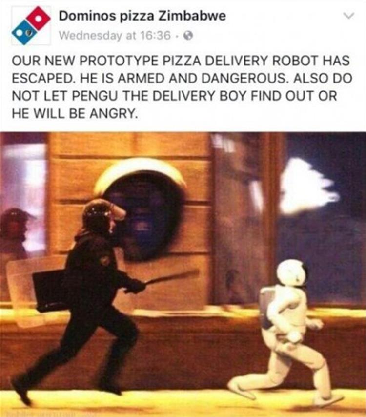 Dominos Pizza Menu >> Funny Pictures Of The Day - 45 Pics