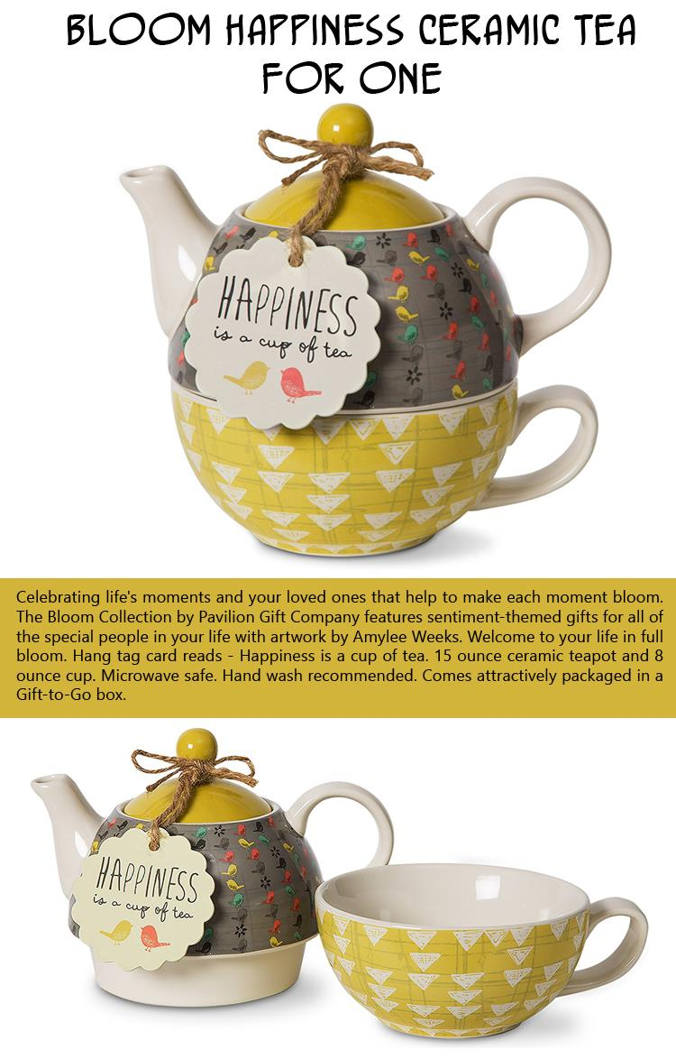 Bloom Happiness Ceramic Tea for One