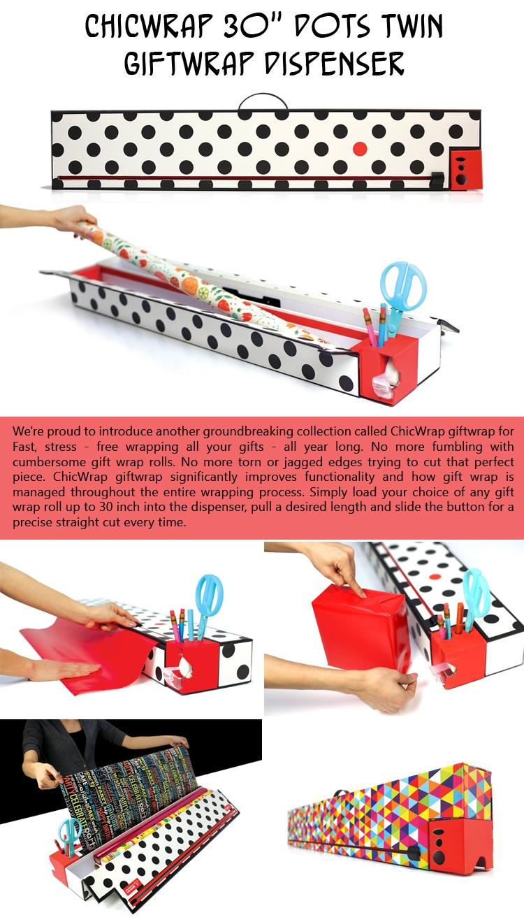 ChicWrap Twin Giftwrap Dispenser