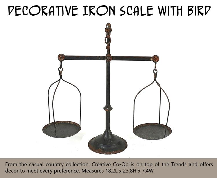 Decorative Iron Scale with Bird