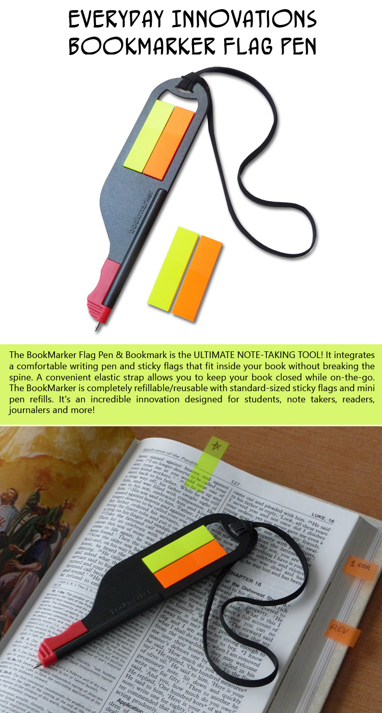 Everyday Innovations Bookmarker Flag Pen