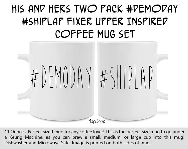 His and Hers Two Pack Fixer Upper Inspired Coffee Mug Set