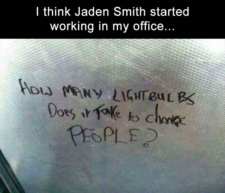 Jaden Smith works in my building