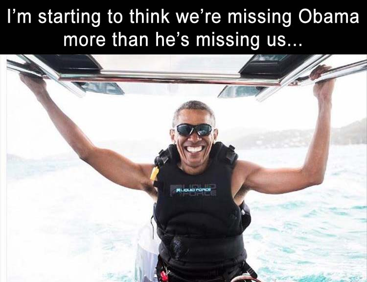 Obama on vacation
