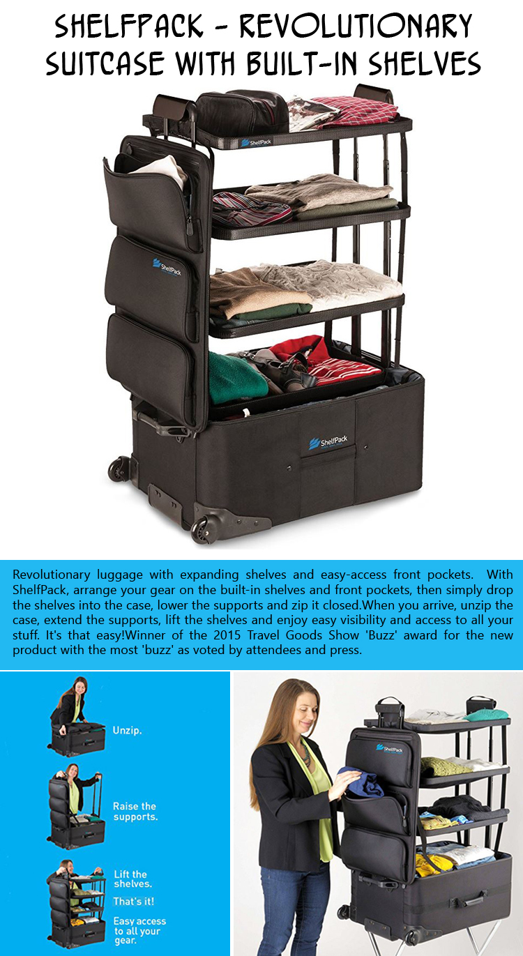 ShelfPack - Revolutionary suitcase with built-in shelves