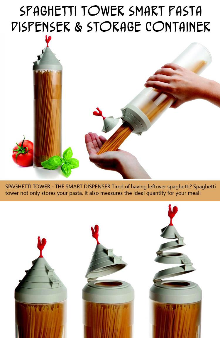 Spaghetti Tower Smart Pasta Dispenser & Storage Container
