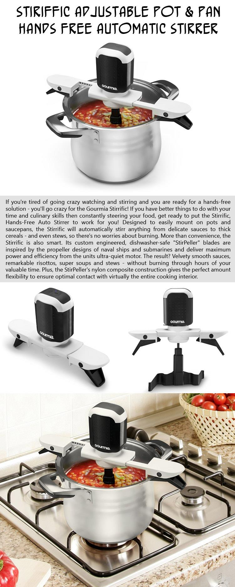Stiriffic Adjustable Pot & Pan Hands Free Automatic Stirrer