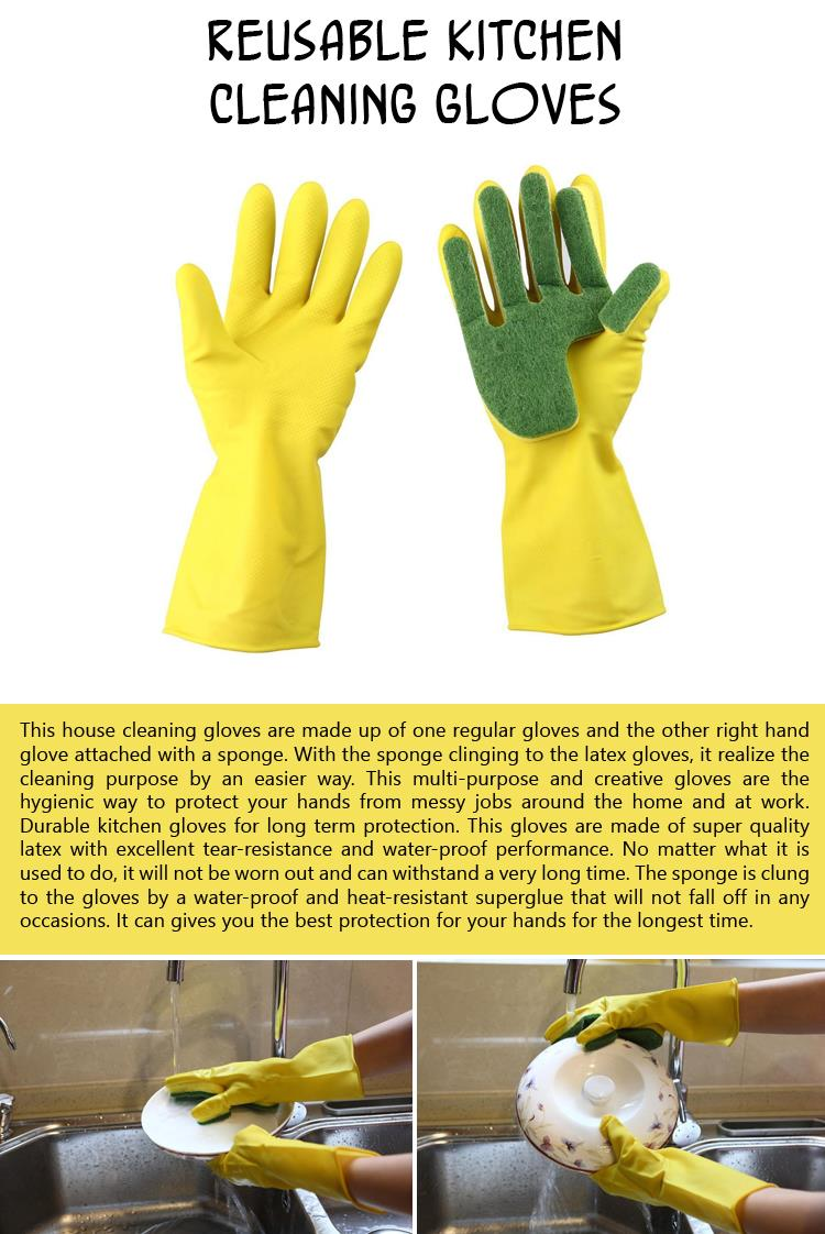 a Reusable Kitchen Cleaning Gloves