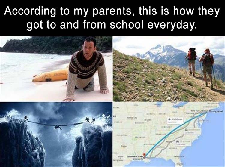 a parents going to school