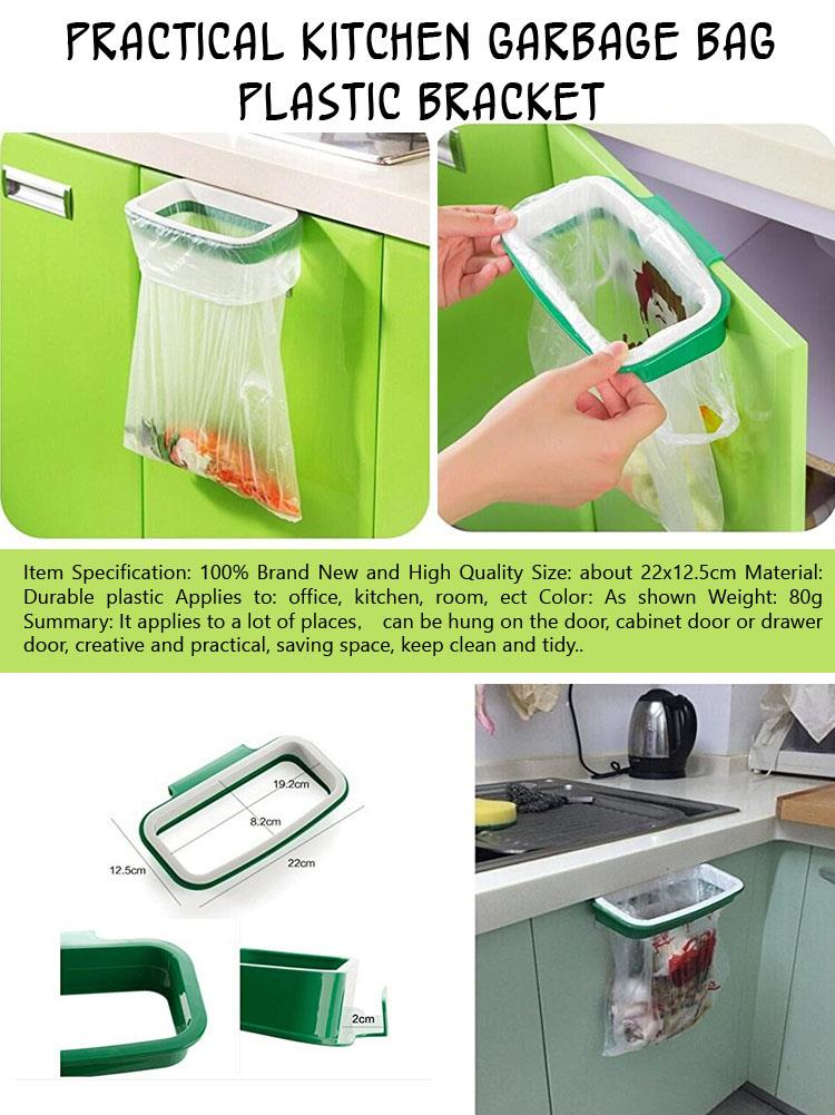 b Practical Kitchen Garbage Bag Plastic Bracket