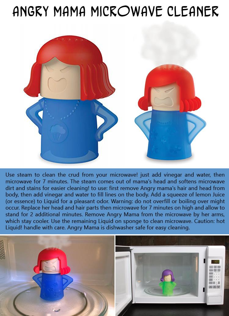 the Angry Mama Microwave Cleaner