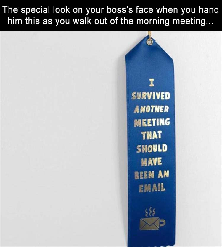 the awkward moment when you hand this out to everyone after the meeting
