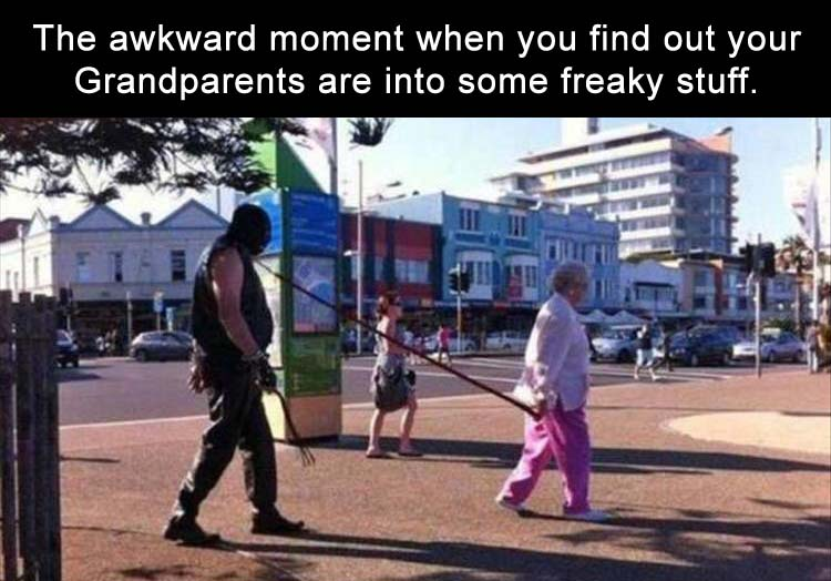 the awkward moment when you learn more about your grandparents than you wanted too