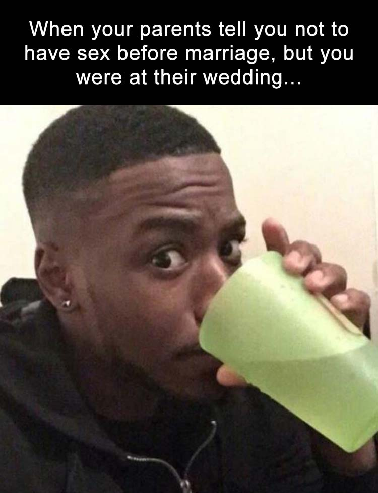 you went to the wedding