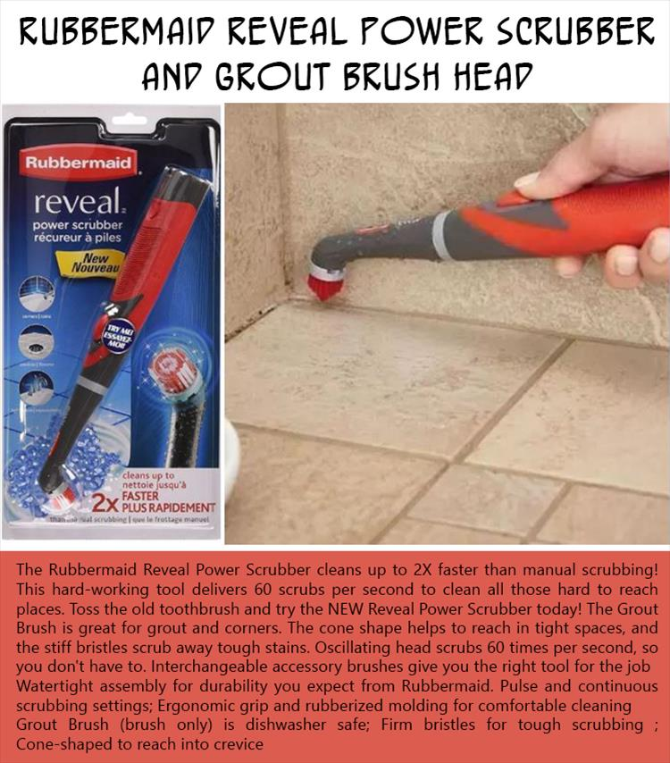 Rubbermaid Reveal Power Scrubber and Grout Brush Head