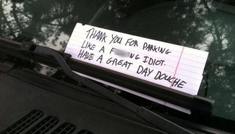 Why Do People Think Putting Notes On Cars Will Stop People