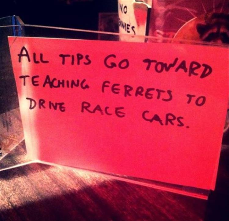 The funniest tip jars you 39 ll see all day 28 pics for Funny tip of the day quotes