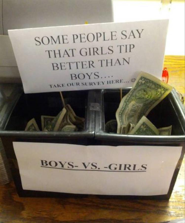 The Funniest Tip Jars You'll See All Day 28 Pics