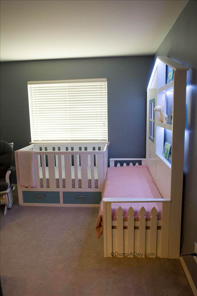 Diy Nursery With Custom Closet Changing Station And