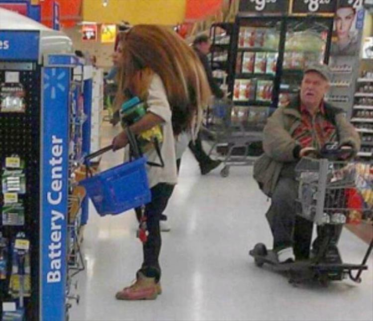 Random pictures of people at walmart
