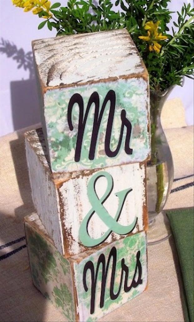 Wedding Crafts Blocks