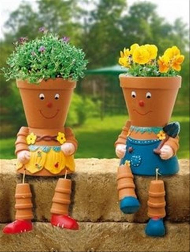 flower pot ideas for your garden - Dump A Day