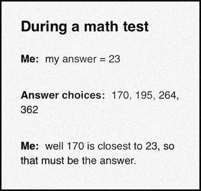 during a math test