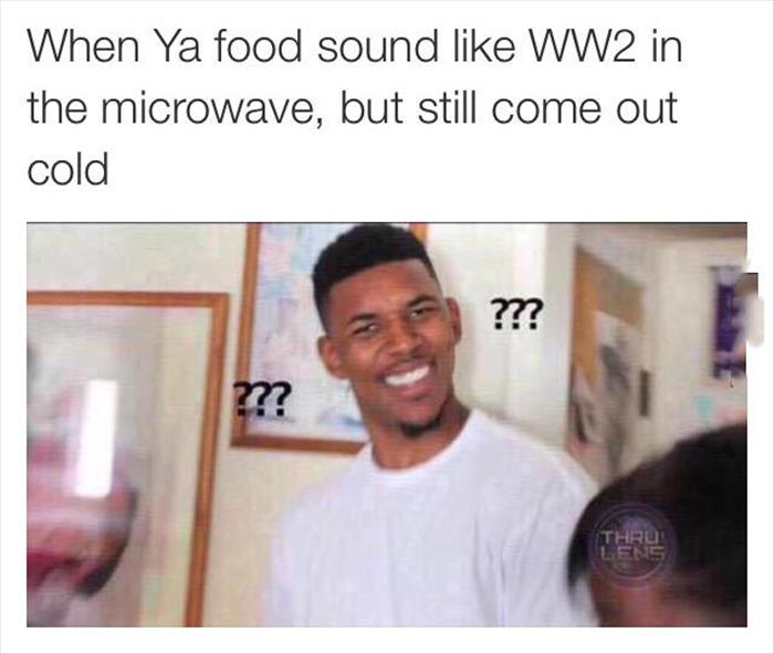 food in the microwave