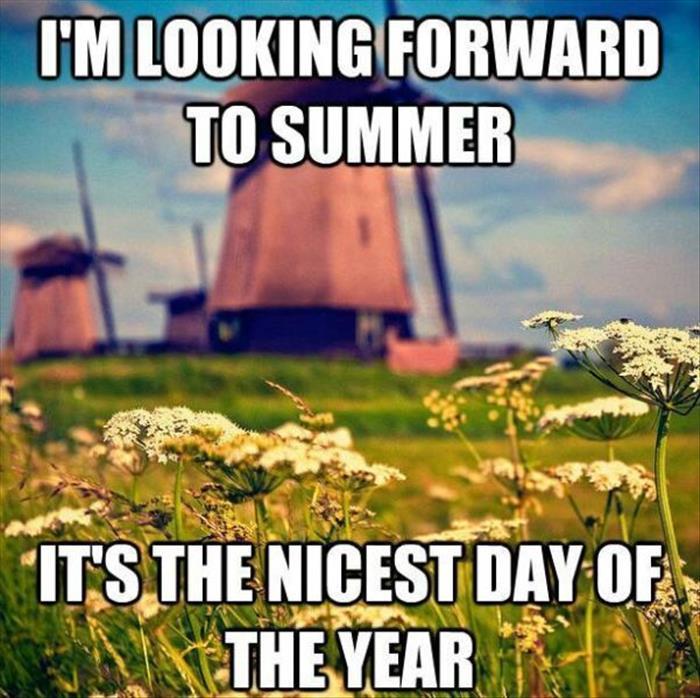 looking forward to summer