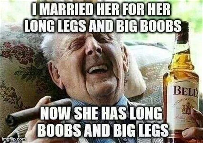 married her for her long legs