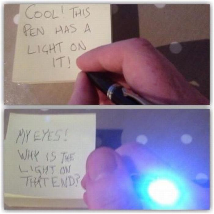 pen has a light onit