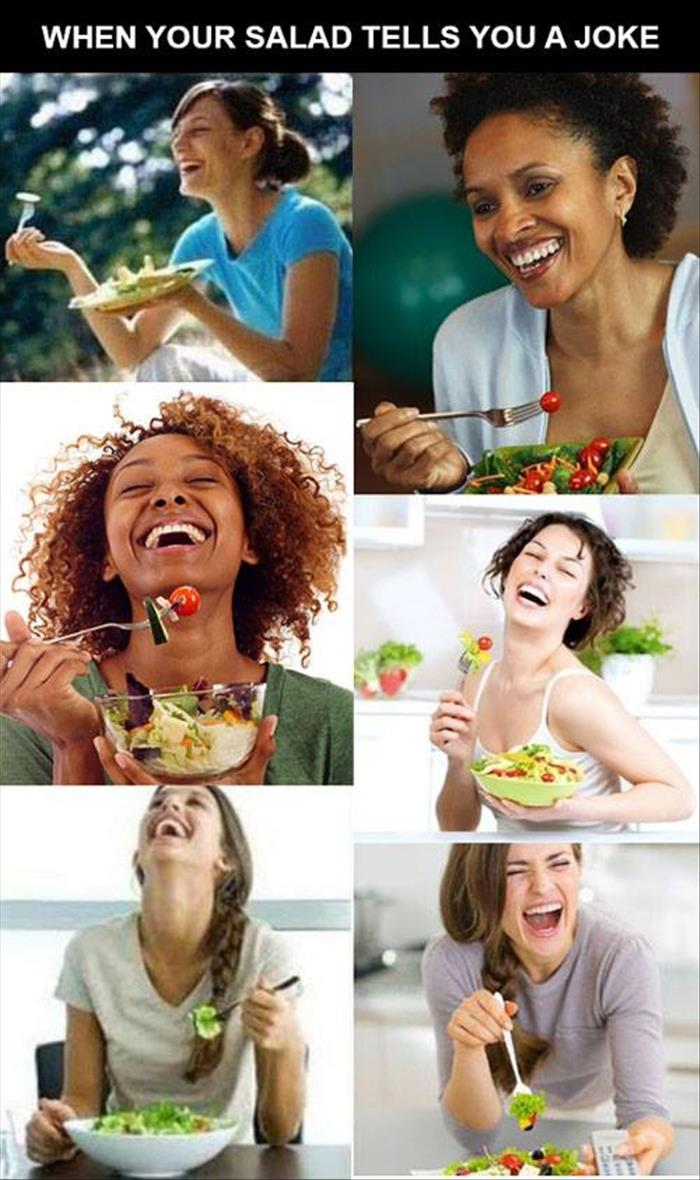 salad is so funny