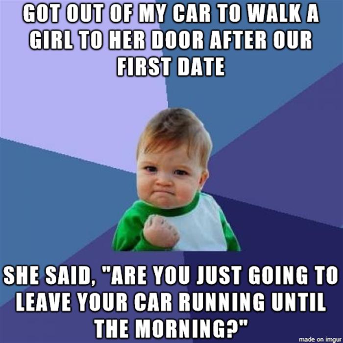 walk the girl to the door