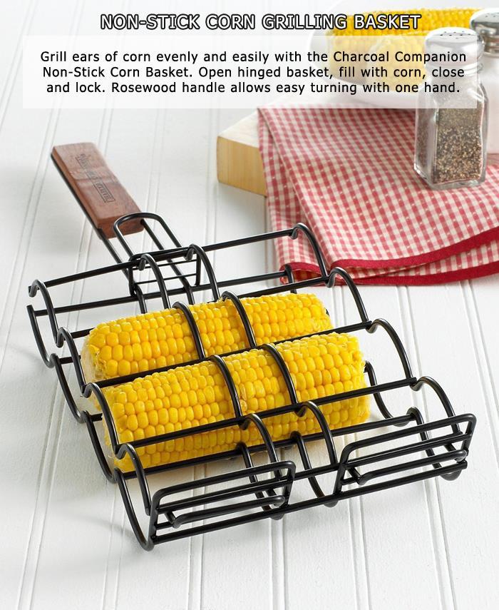 5 Non-Stick Corn Grilling Basket